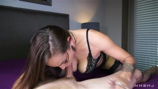 Sasha Foxxx edges a stiff and aching cock