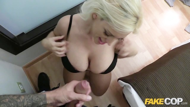 Fake cop lucia takes a policemans helmet anal 2