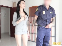 Fake Cop Bootyful spaniard rides cops cock