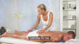 Massage Rooms Horny young big boobs blonde takes fat dick feet massagerooms sensual doggy-style blonde cum-shot big-tits shaved-pussy massive-tits big-dick female-orgasm massage hand-job female-friendly foot-wank