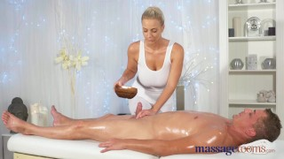 Massage Rooms Horny young big boobs blonde takes fat dick  foot wank big-tits shaved-pussy female orgasm hand-job doggy-style blonde massage female-friendly sensual feet cum-shot big-dick massagerooms massive-tits