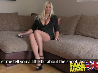 Fakeagentuk sultry blonde with big tits gets tied up and fucked rotten 6