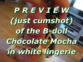 BBB preview: Chocolate Mocha in white lingerie