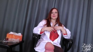 Doctor's Viagra Boner Cure: FULL VIDEO HJ by Lady Fyre femdom  medical happy-ending nurse redhead femdom mom doctor laz-fyre kink olivia-fyre lady-fyre mother big-dick viagra