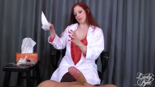 Doctor's Viagra Boner Cure: FULL VIDEO HJ by Lady Fyre femdom  redhead medical femdom kink mom olivia fyre doctor mother lady fyre happy ending nurse viagra big dick laz fyre