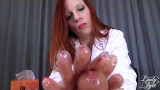 Doctor's Viagra Boner Cure: FULL VIDEO HJ by Lady Fyre femdom  olivia fyre lady fyre medical nurse redhead femdom mom doctor big dick kink mother laz fyre happy ending viagra
