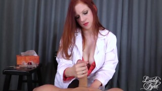 Doctor's Viagra Boner Cure: FULL VIDEO HJ by Lady Fyre femdom  olivia fyre lady fyre nurse redhead femdom mom big dick kink mother laz fyre happy ending medical doctor viagra