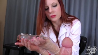 Doctor's Viagra Boner Cure: FULL VIDEO HJ by Lady Fyre femdom  olivia fyre lady fyre nurse redhead femdom mom doctor big dick kink mother laz fyre happy ending medical viagra
