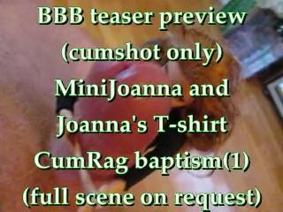 BBB preview: Mini Joanna & Joanna's Tshirt CumRag Baptism (1 of 2)