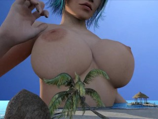 Breast expansion giantess