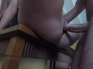Cheating girlfriend get fucked in hotel room