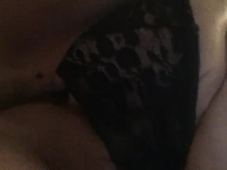 TATTOOED BBW PLAYS WITH HAIRY PUSSY