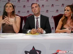 Nikki Benz & Tori Black judging blowjob skills in DPStar 3 Audition Ep 1