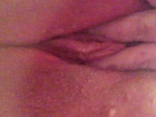 Fingering my tight wet pussy