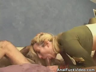 Military Babe Analed And Jizzed On