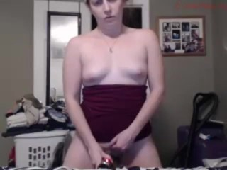 Wife alone on cam