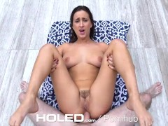 HOLED - Snooping step relative fucks Ashley Adams's asshole