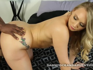 DOCEAN Phat Ass AJ Applegate shakes it for Black Cock