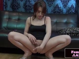 Kinky lingerie trans queen Jessika Starz solo