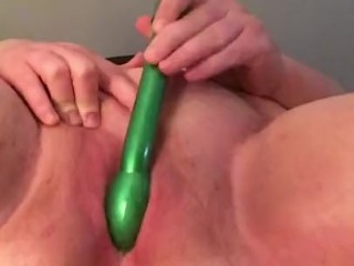 Using my favorite toy on my creamy pussy