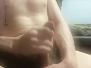 Cum explosion after one hour edge session. Hadn't cum for five days