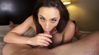 MHBHJ - Chanel  throating babe big-tits point-of-view marks-head-bobbers mhb blowjob natural-boobs pov mark-rockwell bare-feet edging brunette the-pose mhbhj chanel-preston