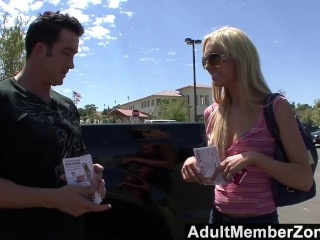 AdultMemberZone - Victoria is thrilled to shoot her first porn vid