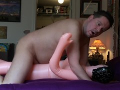 Cumming Inside my Blowup Sex Doll