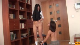 Lesbian Schoolgirls Being Naughty In The Library