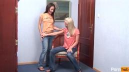 Lesbian Teens Dildo DP