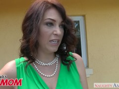Big tits MILF Charlee Chase swallows a young cock – Naughty America
