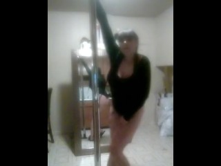 Stripper dancing sexy mixed white girl big ass big tits tattooed girl