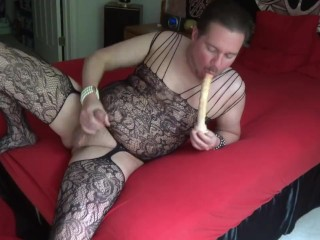 Stroking My Cock Sucking My Dildo