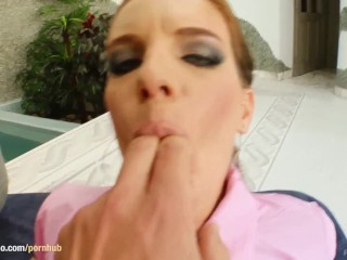 POV style gonzo sex scene with hot Evelyn Foxy