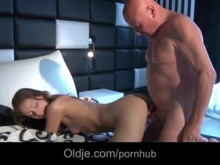 Horny grandpa sex dream of fucking beautiful young girl next door