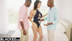 BLACKED Wife Peta Jensen Cheats With Two Guys