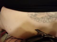 POV Dominatrix Ass Fucking Man with Strap On