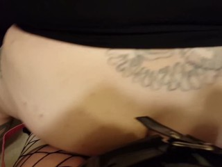 POV Dominatrix Ass Fucking Man with Strap On