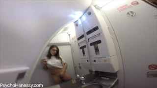Orgasm above the clouds  plane natural-tits real-orgasm natural-boobs vibrator-orgasm russian masturbation masturbate
