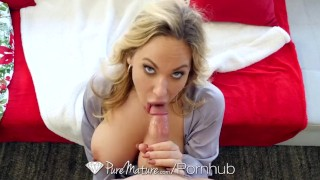 PureMature - Stepmother Olivia Austin seduces stepson at family holiday