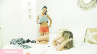 EXCLUSIVE Lesbian Student Seduces Her Beautiful Spanish Tutor  big tits hairy kissing hd blonde hot young hardcore fngrbng latina fingering orgasm tribbing latin teenager all natural girl on girl fake tits