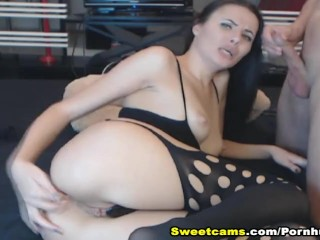 Stunning MILF Gets Anal Fucked By Her Partner