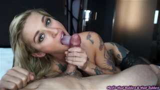 Edge play with Kleio big-load extreme-tattoo marks-head-bobbers mhb blonde big cumshot big-cock babe edging tattoo bombshell the-pose mhbhj oral slow-teasing-blowjob mark-rockwell point-of-view