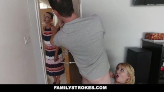 FamilyStrokes - Scavenger Hunt With Step-sis turns sexual  step siblings zelda morrison clothed sex redhead blonde cfnm cumshot hardcore smalltits familystrokes stepsis bigcock facialize facial doggystyle step brother natural tits step sister pale