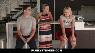 FamilyStrokes - Scavenger Hunt With Step-sis turns sexual redhead hardcore blonde clothed sex cfnm zelda morrison cumshot natural-tits stepsis step-brother smalltits familystrokes step siblings bigcock facialize pale step-sister facial doggystyle