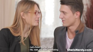 Preview 3 of She Is Nerdy - Mixing sex with English studies