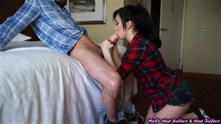 Young hipster slut blackmailed for a quick pump and dump  black mail blowjob mark rockwell marks head bobbers couple sex cock-sucking booty mhb jerking blowjob petite face-fucking mhbhj doggystyle home-video
