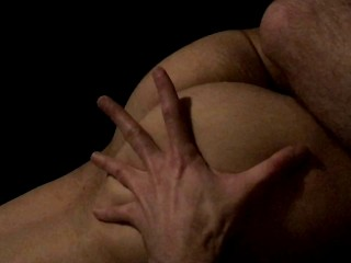 Giving it to him good, rub down of hot bottom