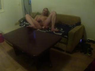 Nacktputz mit Blowjob !