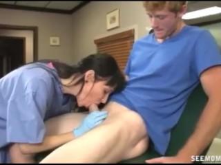 Hot doctor sucks a big boner